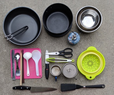 cooking ware and eating utensils